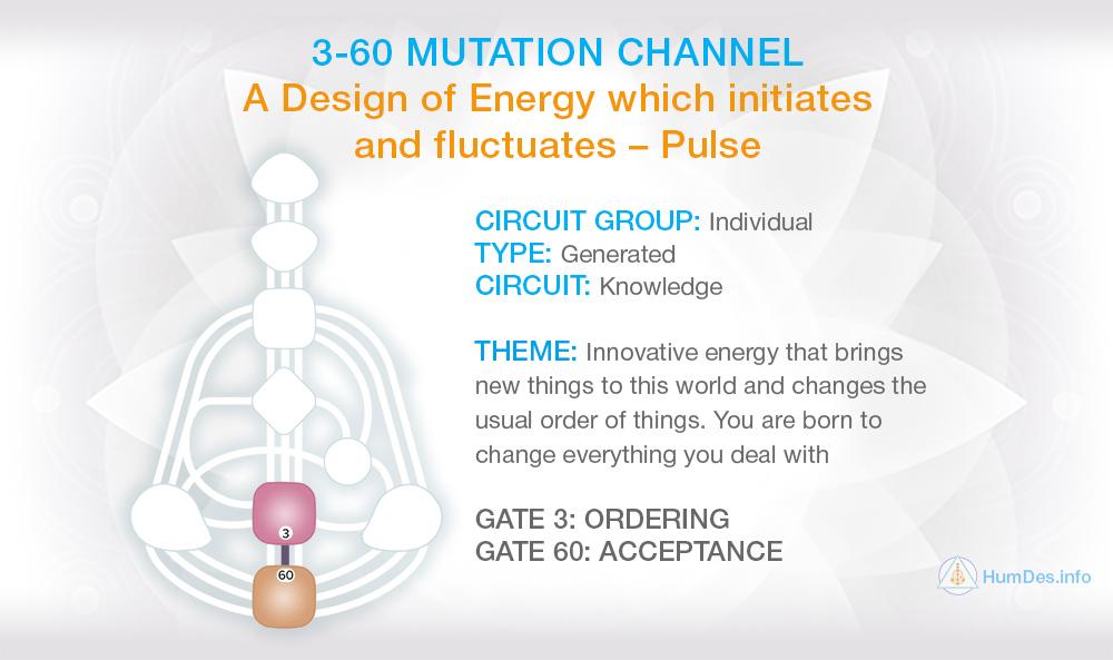 Channel 3-60 Human Design, Channel Mutation
