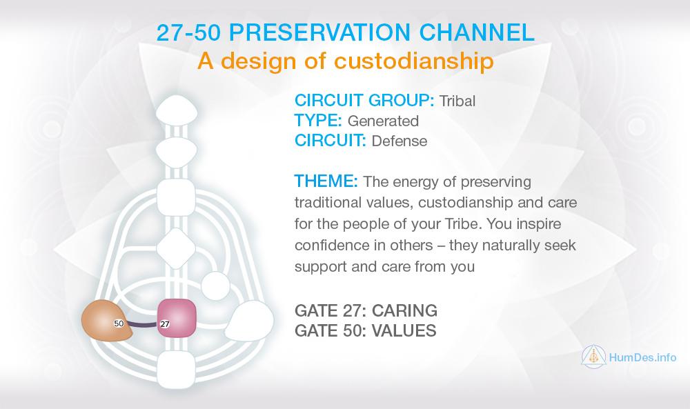 Channel 27-50 Human Design, Preservation Channel